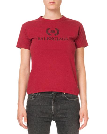 Balenciaga Logo-Graphic Crewneck Tee