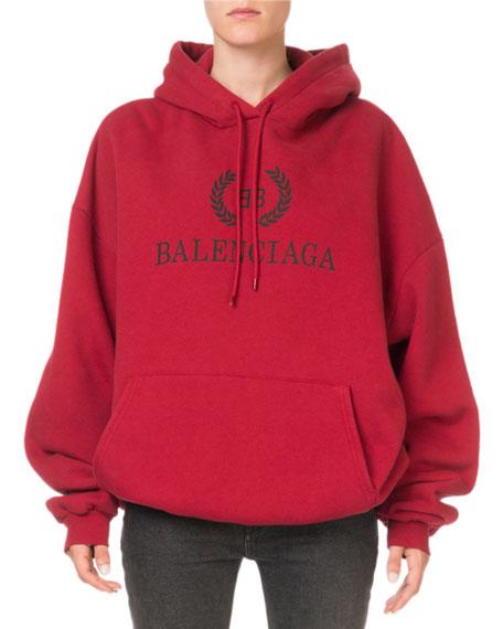 Balenciaga Logo Graphic Pullover Hoodie Sweatshirt