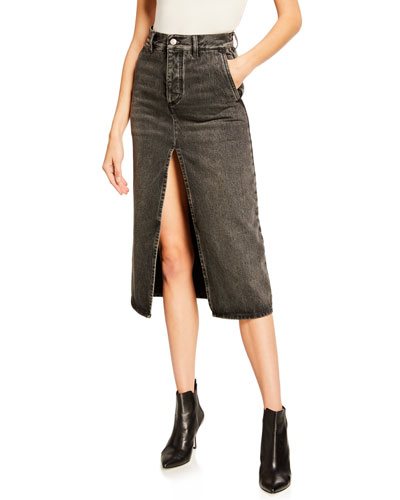 61b30e99386e Vintage Front-Slit Denim Skirt Quick Look. Balenciaga