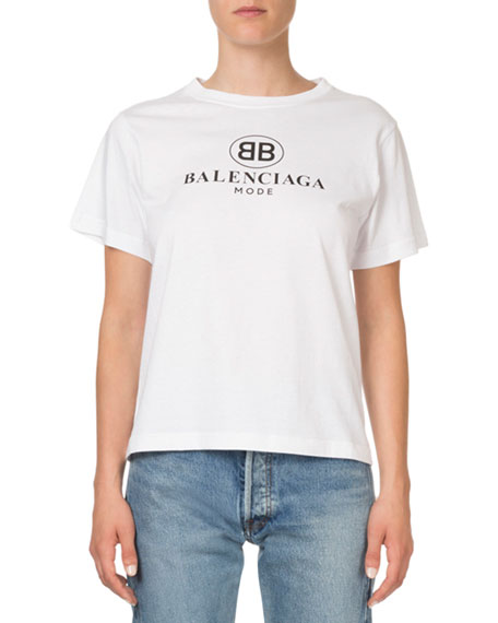 Balenciaga BB Logo Graphic T-Shirt