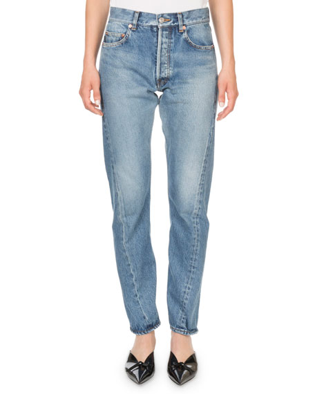 Mid-Rise Twisted Leg Jeans
