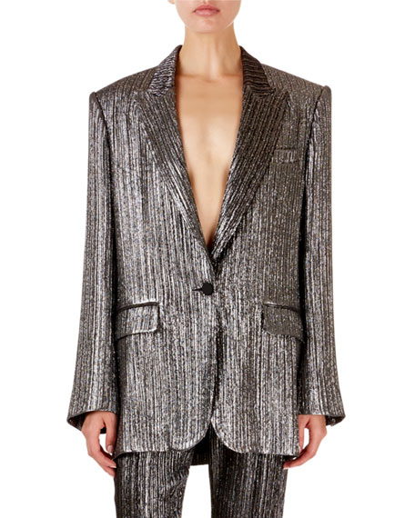 Isabel Marant Metallic Oversized Blazer