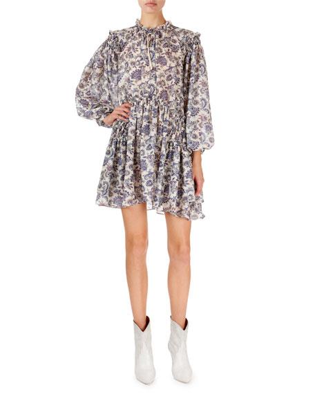 Isabel Marant Navy Multi Siggt Printed Dress