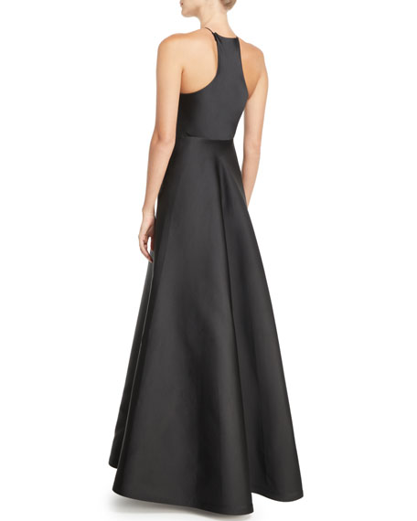 fed820affc Jason Wu Collection Sleeveless Halter Double-Face Satin Evening Gown