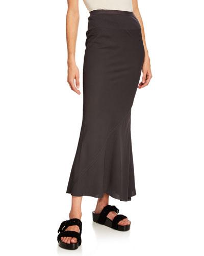 Coda Calf-Length Cady Skirt
