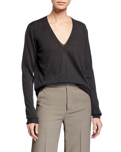 Cashmere Soft V-Neck Sweater
