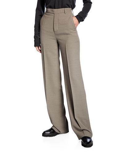 Wide-Leg Flowy Trouser Pants