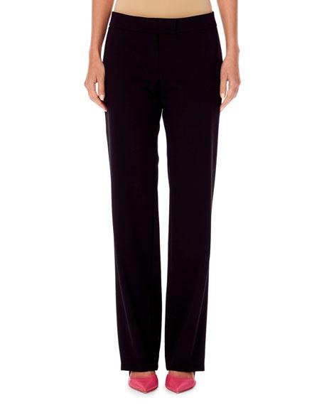 Straight-Leg Wool Pants