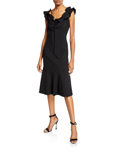 Bateau-Neck A-Line Dress