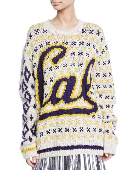 CALVIN KLEIN 205W39NYC UC Berkeley Intarsia Crewneck Sweater