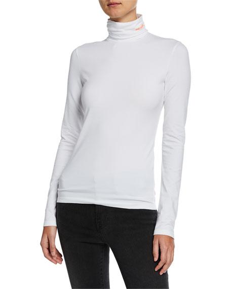 Turtleneck Long-Sleeve Jersey Top
