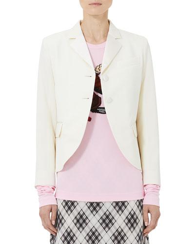 Tailored Patch-Pocket Wool Blazer