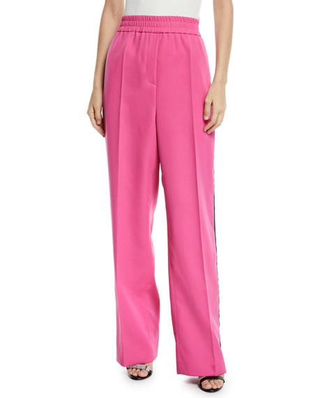 CALVIN KLEIN 205W39NYC Elastic-Waist Wide-Leg Wool Track Pants