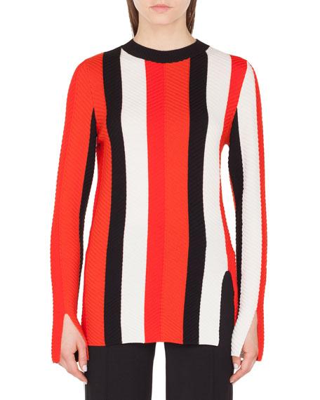 more photos 2bef3 25e2d Herringbone Stripe Merino Pullover Sweater