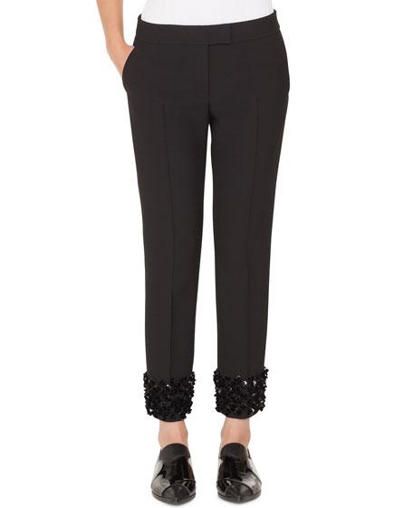 Akris punto Frankie Straight-Leg Cropped Punto Pants with