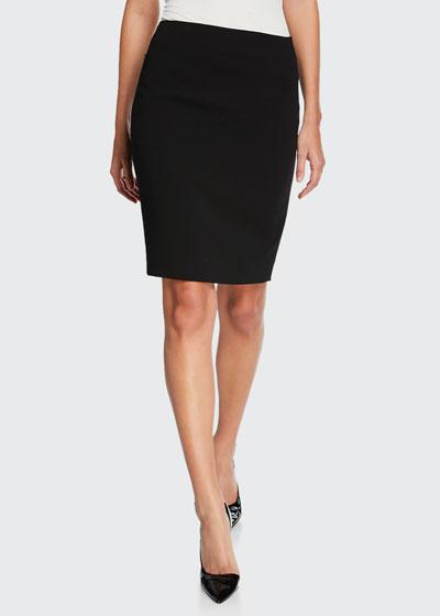 Stretch Wool Pencil Skirt