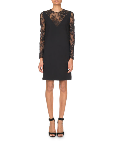1b9467565100 Givenchy Lace-Inset V-Illusion Mini Dress