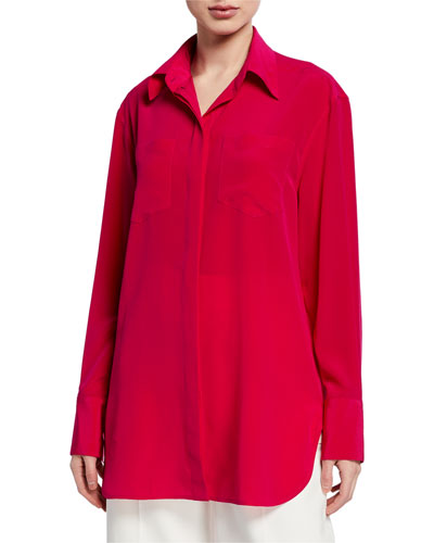 Long-Sleeve Classic Blouse