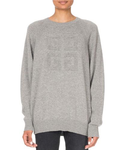 Cashmere Logo-Jacquard Crewneck Sweater
