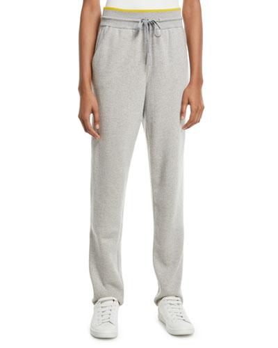 Sporty Cashmere Track Pants