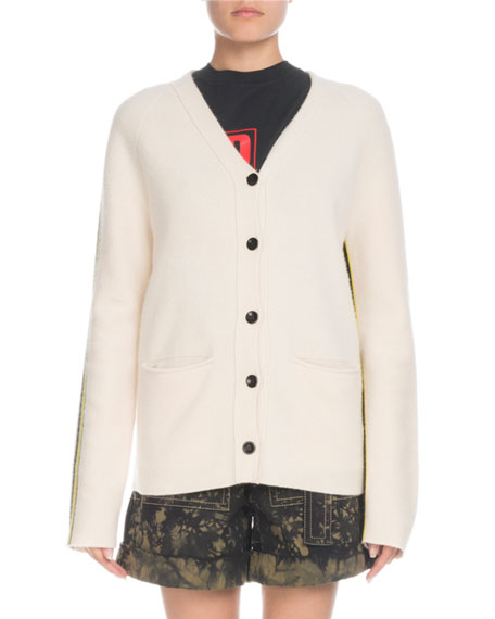 1cd07ae74e Proenza Schouler PSWL Button-Front Wool-Cashmere Cardigan