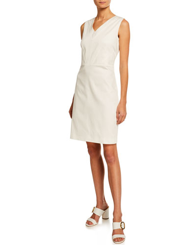 V-Neck Sleeveless Sheath Dress