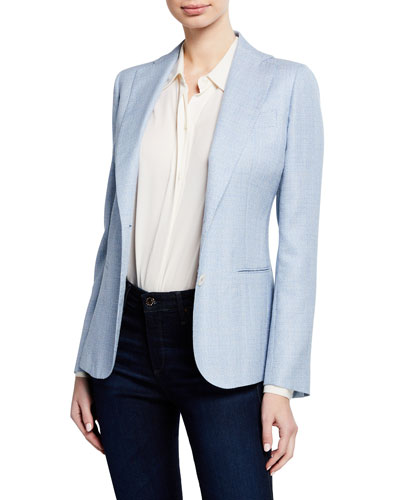 Tweed Single-Breasted Jacket