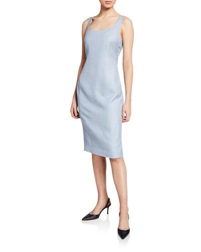 Lightweight Tweed Sheath Dress