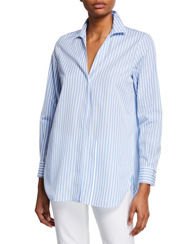 Striped Poplin Blouse