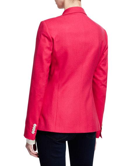 Cashmere Button-Front Blazer