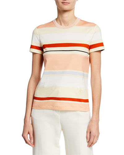 Short-Sleeve Striped Cotton Tee