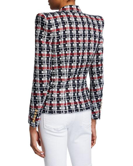 Tweed 6-Button Blazer