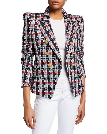 Balmain Tweed 6-Button Blazer