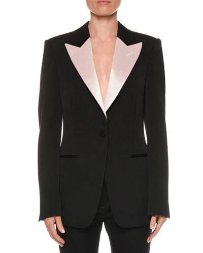 Classic Satin-Lapel Tux Jacket
