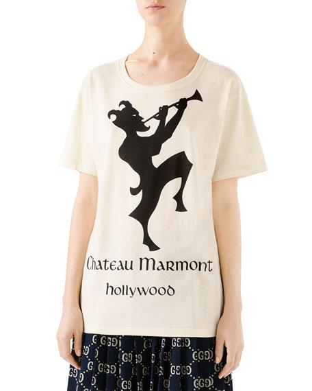 4aa483755 Gucci Oversized Chateau Marmont T-Shirt