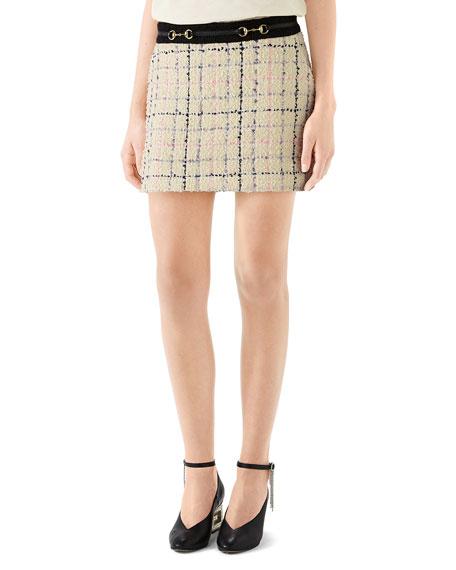 Romantic Tweed Mini Skirt