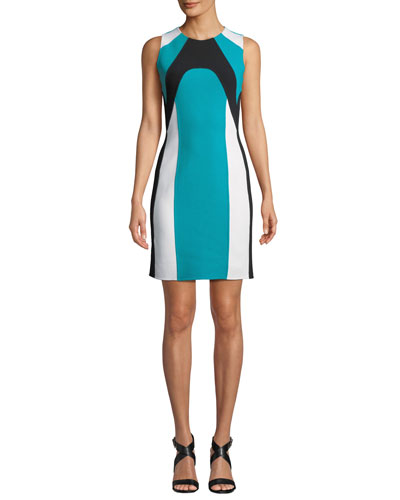 f0bf413f53bc Colorblocked Stretch-Boucle Dress Quick Look. Michael Kors Collection