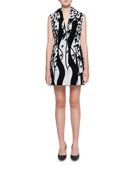 Halpern Sequined Swirl Jacket Mini Dress