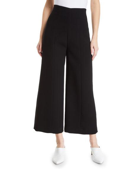 High-Waist Wide-Leg Cropped Pants