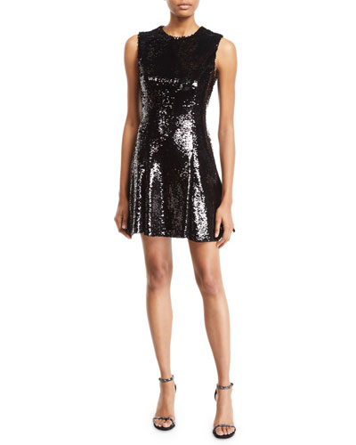 Sleeveless Mini Sequin Dress