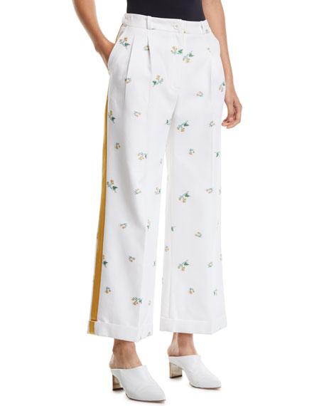 Racil Agadir High-Waist Floral Print Wide-Leg Pants