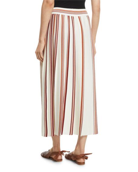 a7b15156df Gonna Rigata Palm-Beach Midi Skirt