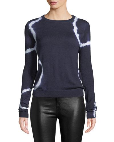 Cashmere Circle Tie-Dye Sweater