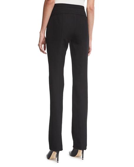 Mid-Rise Wool-Twill Skinny-Leg Pants