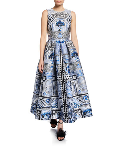 Astere Jacquard Fit-and-Flare Dress