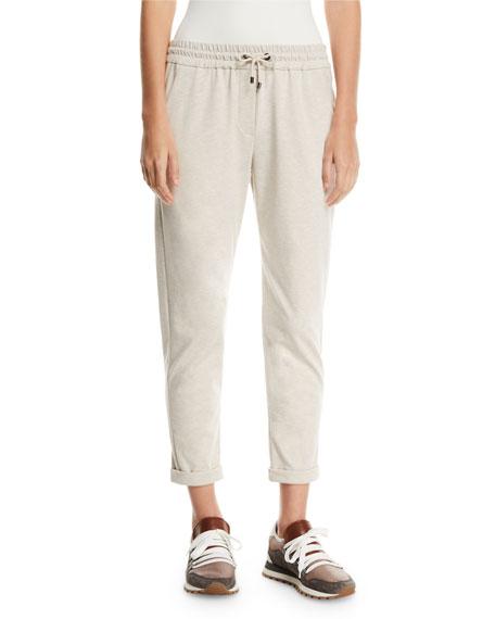 Brunello Cucinelli Spa-Cotton Monili-Pocket Jogger Pants