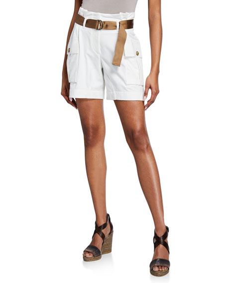 Brunello Cucinelli Felpa Paperbag-Waist Shorts