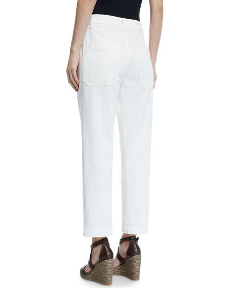 Seamed Cotton Cargo Pants