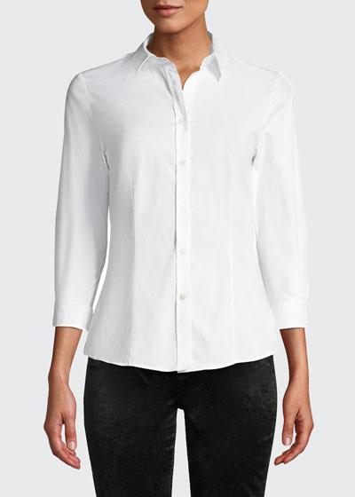 Classic Cotton Button-Front Shirt