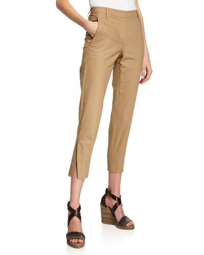Straight-Leg Cotton Twill Pants